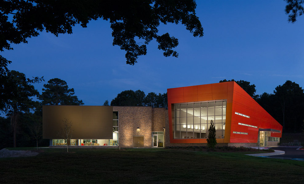 Wolf Creek Library - Exterior- Night